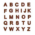 Rusty metal plate alphabet Royalty Free Stock Photo