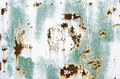 Rusty metal plate weathered grainy surface with scratching Stock Image