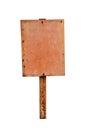 Rusty metal sign board Royalty Free Stock Photo