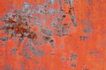 Rusty metal surface with old peeled paint Royalty Free Stock Photo