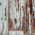 Rusty metal wall old fence Stock Image