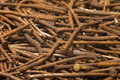 Rusty nails. Royalty Free Stock Photo