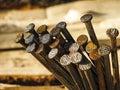 Rusty nails Royalty Free Stock Photo