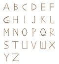 Rusty nails fonts Royalty Free Stock Photo