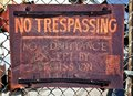 Rusty No Trespassing Sign Royalty Free Stock Photos