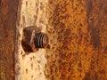 Rusty nut Stock Photos