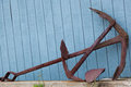 Rusty Old Anchor , Port Clyde, Maine, USA Royalty Free Stock Image