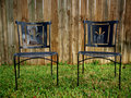 Rusty Old Black Chairs Royalty Free Stock Images
