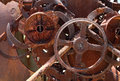 Rusty old machinery metal metal scrap Stock Photos