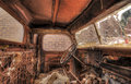Rusty old truck cabin abandoned Royalty Free Stock Images