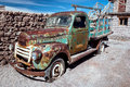 Rusty old truck uyuni bolivia Royalty Free Stock Images