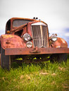 Rusty old vintage car Royalty-vrije Stock Fotografie