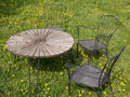 Rusty outdor furniture in the yard another view 2 Royalty Free Stock Photo