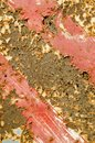 Rusty painted metal plate background. Royalty Free Stock Photography