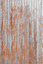Rusty red metal door detail of an old and abandoned Royalty Free Stock Photo