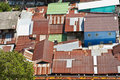 Rusty roof in slum Royalty Free Stock Photography