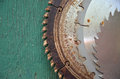 Rusty saw blades Royalty Free Stock Photo