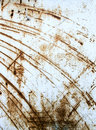Rusty scratched metal sheet Royalty Free Stock Photo