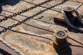 Rusty sea platform Royalty Free Stock Photo