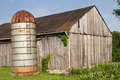 Rusty Silo and Barn Royalty Free Stock Photo