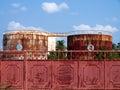 Rusty silos Royalty Free Stock Photo