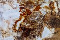 Rusty stains on metal wall/grungy texture background Royalty Free Stock Photo