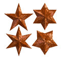 Rust iron stars isolated badge Royalty Free Stock Photo
