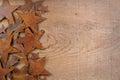 Rusty Stars On A Wooden Backgr...
