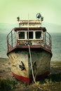 Rusty steamship Royalty Free Stock Photography