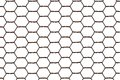 Rusty steel chicken wire netting isolated on a white background. Royalty Free Stock Photo