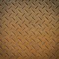 Rusty steel diamond plate texture pattern Royalty Free Stock Photo
