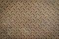 Rusty steel diamond texture pattern Royalty Free Stock Photo