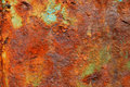 Rusty texture surface old sheet serving as the hood on the boat due to the influence of time and environmental conditions began to Royalty Free Stock Images