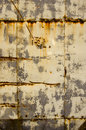 Rusty tin house wall closeup  vintage background Royalty Free Stock Photo