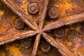 Rusty tractor wheel Stock Image