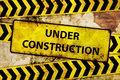 Rusty under construction sign Royalty Free Stock Images