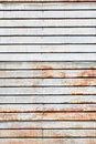 Rusty Vintage Metal Siding. Royalty Free Stock Photo