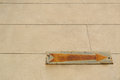 Rusty vintage old arrow sign with copy space Royalty Free Stock Photo