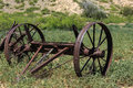 Rusty Wagon Wheel Axle Royalty Free Stock Photo