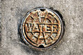Rusty Water Valve Cover Royalty Free Stock Photo
