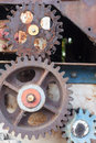 Rusty weathered cogs