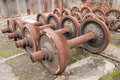 Rusty wheels of train Royalty Free Stock Photo
