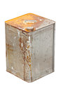 Rusty zinc container isolated on white Stock Photos