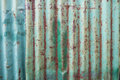 Rusty zinc sheet wall background Royalty Free Stock Photography