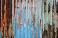 Rusty Zinc Wall Royalty Free Stock Photos