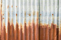 Rusty zinc wall for background Royalty Free Stock Photography