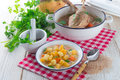 Rutabaga soup a fresh and tasty Royalty Free Stock Image