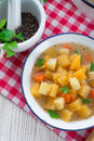 Rutabaga soup a fresh and tasty Royalty Free Stock Photography