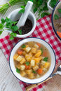 Rutabaga soup a fresh and tasty Royalty Free Stock Images