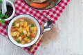 Rutabaga soup a fresh and tasty Stock Photography